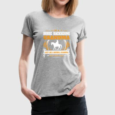 Horse Backriding Grandma Shirt Gift Idea - Women's Premium T-Shirt