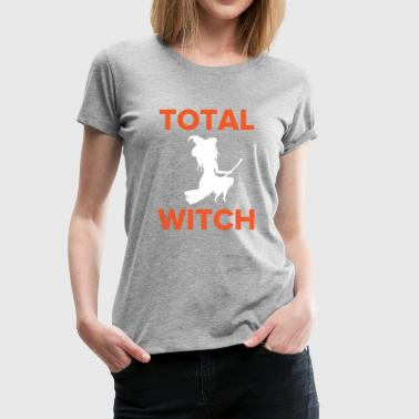 Total Witch Riding on a Broomstick for Halloween - Women's Premium T-Shirt