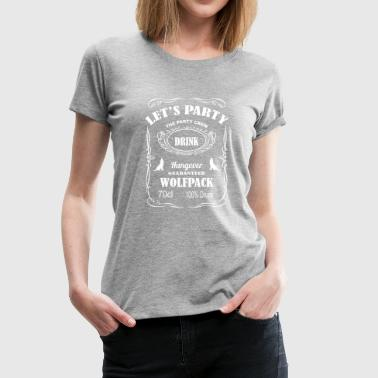 LET'S PARTY WOLF PACK - Women's Premium T-Shirt