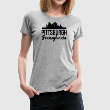 Pittsburgh Pennsylvania Skyline - Women's Premium T-Shirt