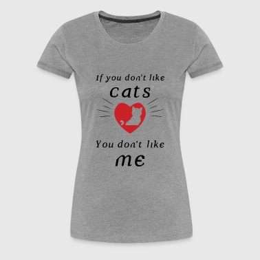 paws funny shirt cute for cat lovers - Women's Premium T-Shirt