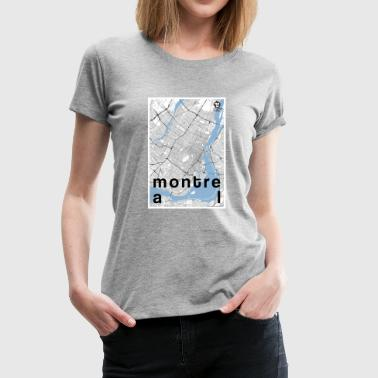 Montreal hipster city map black/white - Women's Premium T-Shirt