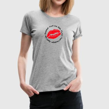 Round Lip Red - Women's Premium T-Shirt