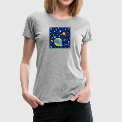 Celestial Stars and Planets - Women's Premium T-Shirt
