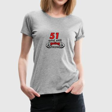 51st birthday design - Women's Premium T-Shirt