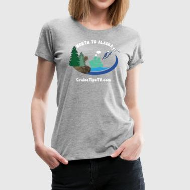 North to Alaska - White Font & Brown Moose - Women's Premium T-Shirt