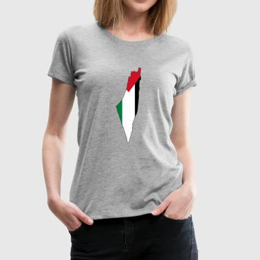 Flag map of Palestine Palestinian - Women's Premium T-Shirt