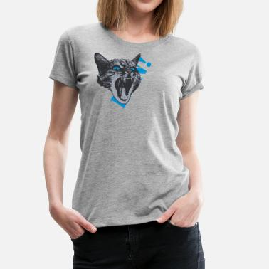 Angry Pussy Really angry kitty cat - Women's Premium T-Shirt