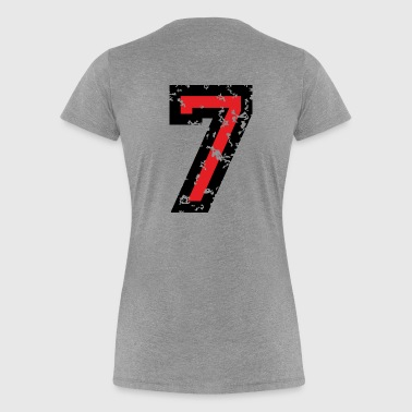 The Number Seven - No. 7 (two-color) red - Women's Premium T-Shirt