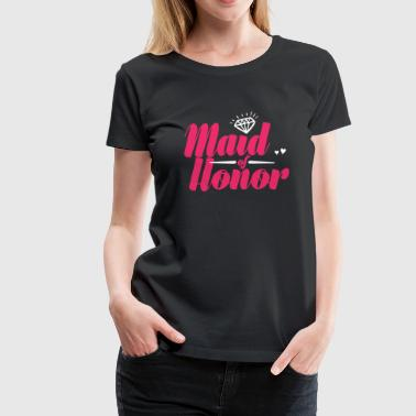 Bridal Shower Fun-shirt Maid of Honor Bachelorette Party and Bridal Shower - Women's Premium T-Shirt
