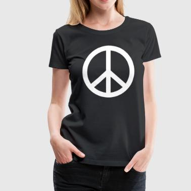 Peace Sign PEACE SIGN Make Peace Not War - Women's Premium T-Shirt