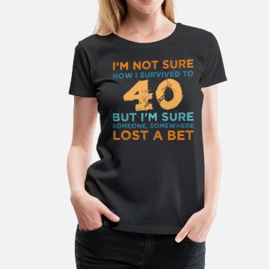3e87378a Funny 40th Birthday 40th Birthday Survival - Women's Premium T-Shirt.  Women's ...