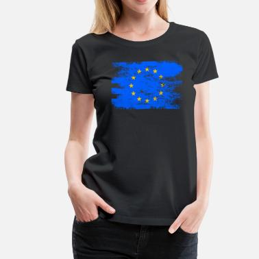 Flag Communism European Community Gift Country Flag Patriotic Travel Shirt Europe Light - Women's Premium T-Shirt