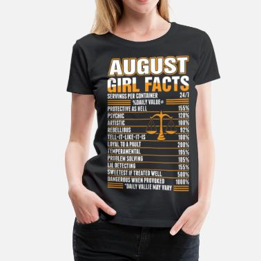 1996 August Girl Facts Libra - Women's Premium T-Shirt