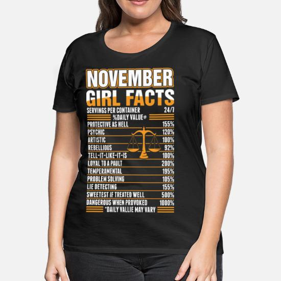 November Girl Facts Libra Women's Premium T-Shirt | Spreadshirt