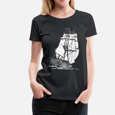 Pirate white pirate ship - Women's Premium T-Shirt