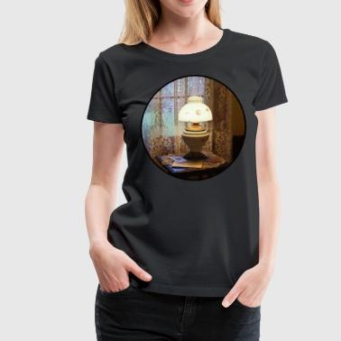 Lamp in Victorian Parlor - Women's Premium T-Shirt