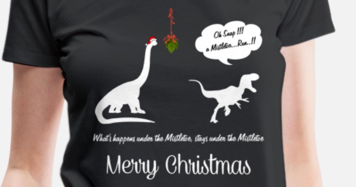 ebb2418b MISTLETOE FUNNY X'MAS Women's Premium T-Shirt | Spreadshirt