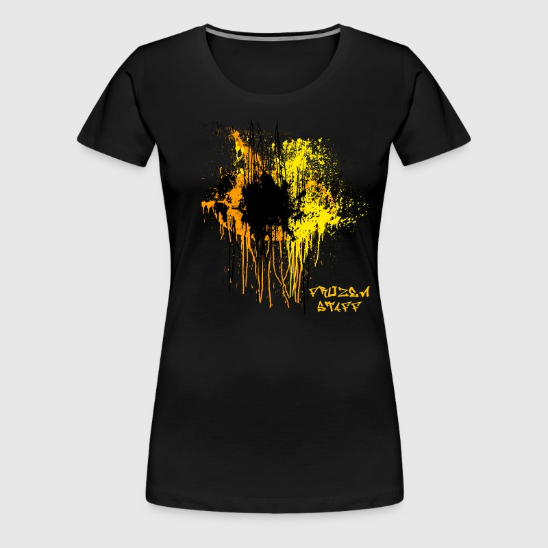 Yellow/Orange Front Frozen Staff Design - Women's Premium T-Shirt