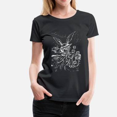White Hole Down The Rabbit Hole White - Women's Premium T-Shirt