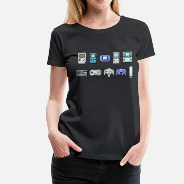 Metroid All Nintendo Game Controllers - Women's Premium T-Shirt