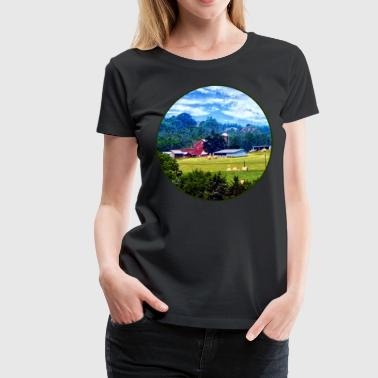 Farm in the Distance - Women's Premium T-Shirt