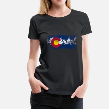 State Of Colorado Vintage Colorado State Flag Colorado Mountains - Women's Premium T-Shirt
