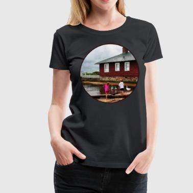 Children Playing At Harbor Essex CT - Women's Premium T-Shirt