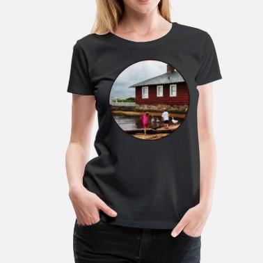 Essex Children Playing At Harbor Essex CT - Women's Premium T-Shirt