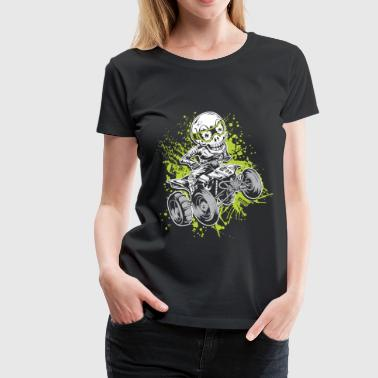 ATV Quad Paddle Skully - Women's Premium T-Shirt
