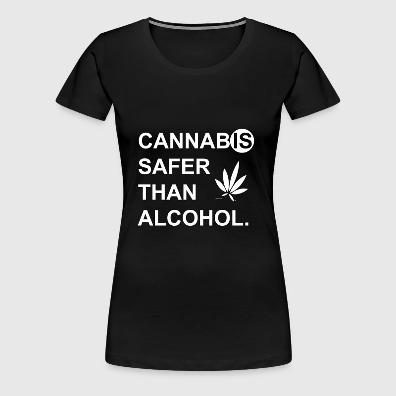 Cannabis IS Safer Than Alcohol - White - Women's Premium T-Shirt