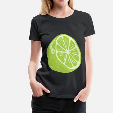 Lime Green half lime - Women's Premium T-Shirt
