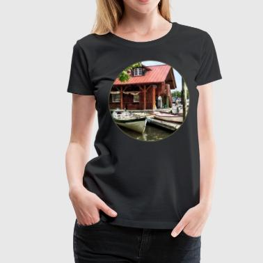 Rowboats by Founders Park Alexandria VA - Women's Premium T-Shirt