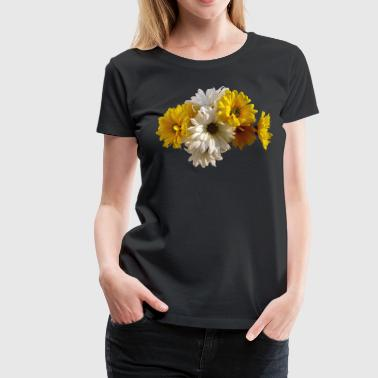 White and Yellow Daisies - Women's Premium T-Shirt