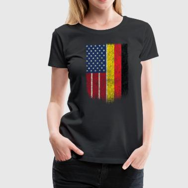 German American Tshirt German American Flag Shirt - Women's Premium T-Shirt