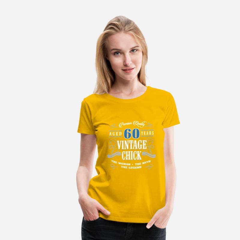 Birthday Gift 60 Years Old Vine Women S Premium T Shirt Spreadshirt