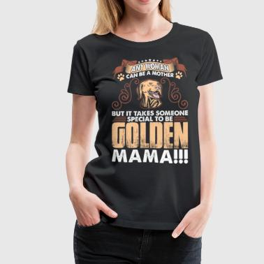 Special Woman Golden Dog - Women's Premium T-Shirt