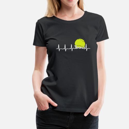 2b0009a63e61 Tennis Heartbeat Shirt Women s Premium T-Shirt