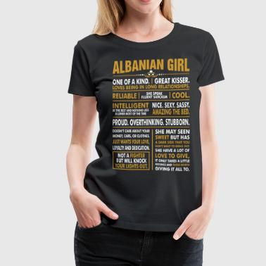 Albanian Girl Great Kisser - Women's Premium T-Shirt