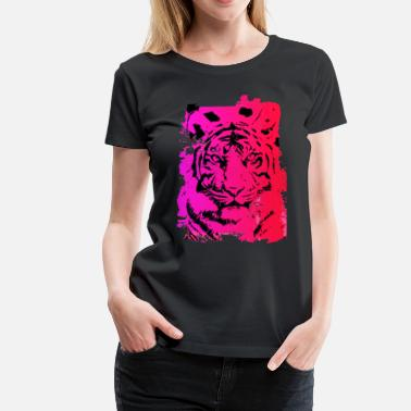 Hot Pink Hot Pink Tiger - Women's Premium T-Shirt