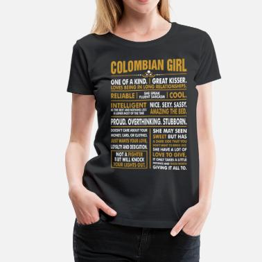 Funny Colombian Colombian Girl Great Kisser - Women's Premium T-Shirt