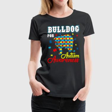 Bulldog For Autism Awareness - Women's Premium T-Shirt