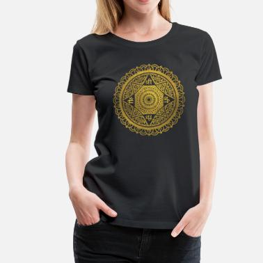 Lakshmi Golden  Star of Lakshmi - Ashthalakshmi  Sri - Women's Premium T-Shirt