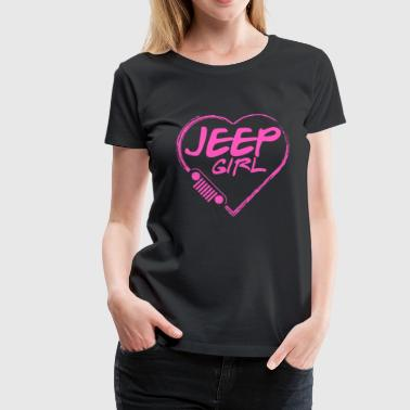 Jeep girl - Pink heart lovely T-shirt - Women's Premium T-Shirt