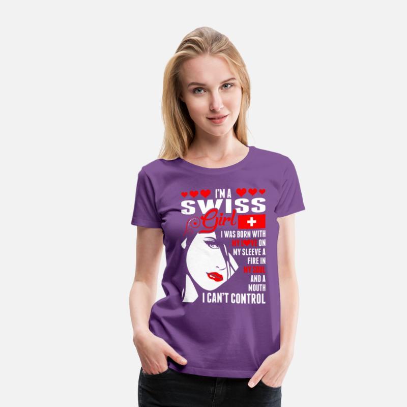 im a swiss girl women s premium t shirt spreadshirt