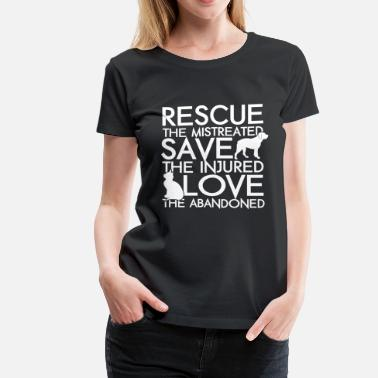 Rescue RESCUE SAVE LOVE DOG AND CAT - Women's Premium T-Shirt