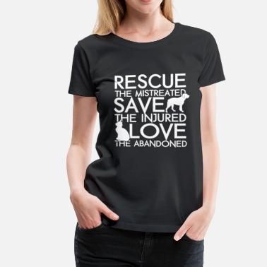 5c8ae3df5130 Animal Rescue RESCUE SAVE LOVE DOG AND CAT - Women's Premium T. Women's  Premium T-Shirt