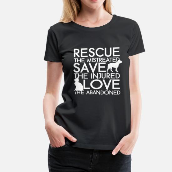 99b9fb00 RESCUE SAVE LOVE DOG AND CAT Women's Premium T-Shirt | Spreadshirt