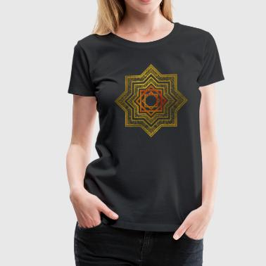 Golden Decorative Star of Lakshmi - Ashthalakshmi  - Women's Premium T-Shirt