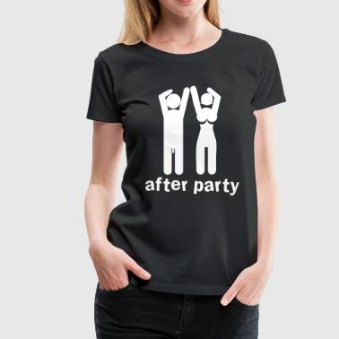 Nude Rude after party naked man and woman a bit rude! - Women's Premium T-Shirt